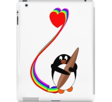 Penguin Painting with Rainbow iPad Case/Skin