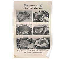 United States Department of Agriculture Poster 0304 Pot Roasting a Less Tender Cut Poster