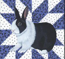 Patchwork Rabbit No 1 by JenLongshaw
