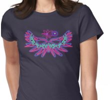 PEACE-Mask Of Petals Womens Fitted T-Shirt