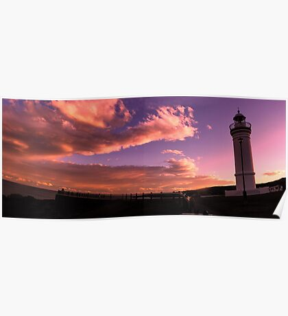 Sunset at Kiama Lighthouse Poster