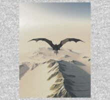 Grey Dragon Flight Over Snowy Mountains One Piece - Long Sleeve