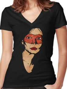 Mother Hazard Women's Fitted V-Neck T-Shirt