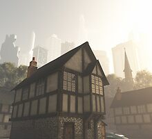 Future City from Inside the Old Town by algoldesigns