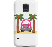 Surfer Girl Beach Bum Scene Samsung Galaxy Case/Skin