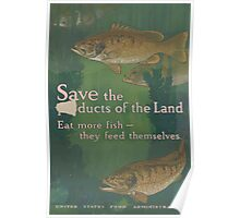 United States Department of Agriculture Poster 0108 Save the Products of the Land Fish Feed Themselves Poster