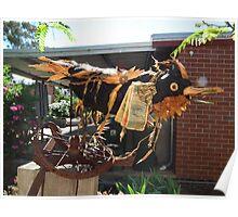 Disco crow - in garden Poster