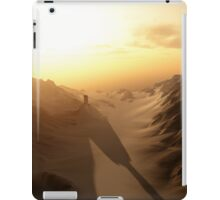 Distant Lonely Tower at Sunset with Dark Shadows iPad Case/Skin