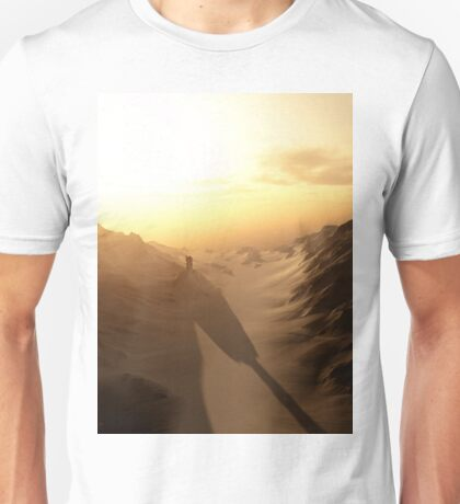 Distant Lonely Tower at Sunset with Dark Shadows Unisex T-Shirt