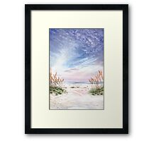Coastal Morning Colors and Shadows Framed Print
