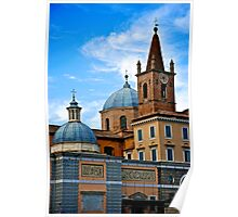 Domes, Spires & Crosses Poster