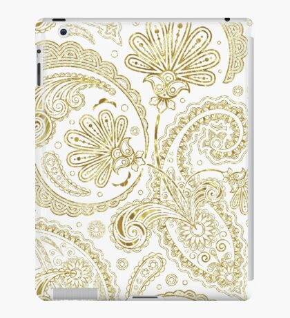 Gold Tones Vintage Floral Paisley Pattern iPad Case/Skin