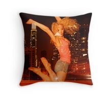 Tammy- Night at the Train Station2 Throw Pillow