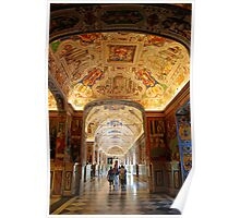 Hallway to the Vatican Museums Poster