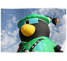 Penguin Balloon Poster