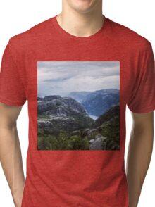 Fjord landscape Tri-blend T-Shirt