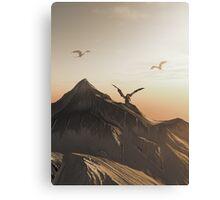 Dragon Peak at Sunset Canvas Print
