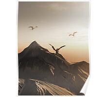 Dragon Peak at Sunset Poster