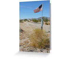trailer patriot, mojave desert Greeting Card