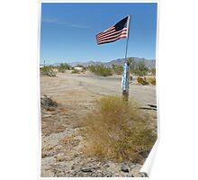 trailer patriot, mojave desert Poster