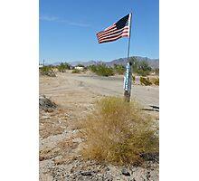 trailer patriot, mojave desert Photographic Print