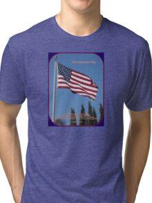 The American Flag Tri-blend T-Shirt