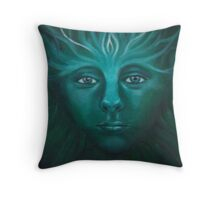Feeorin - Green Man Throw Pillow