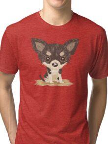 Chihuahua is sitting Tri-blend T-Shirt