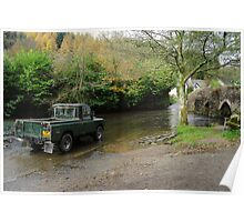Landrover and the Ford  Poster