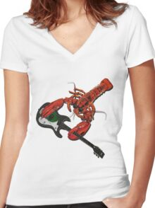 Rock Lobster Women's Fitted V-Neck T-Shirt