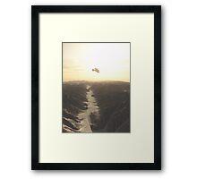 Desert Planet Overflight Framed Print
