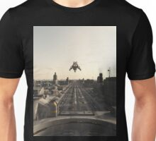 Spaceship on Final Landing Approach Unisex T-Shirt