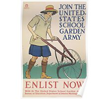 United States Department of Agriculture Poster 0116 Join the Garden Army Enlist Now Poster