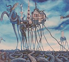 Temptation of a Snakeman- After Dali by SnakeArtist
