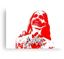 Red Zombie Canvas Print