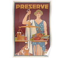 United States Department of Agriculture Poster 0169 Preserve Food Poster