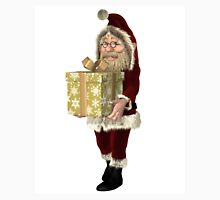 Santa Claus Carrying a Christmas Present Unisex T-Shirt