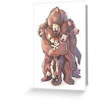 Multi-bear Hugs Greeting Card