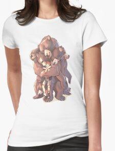 Multi-bear Hugs Womens Fitted T-Shirt