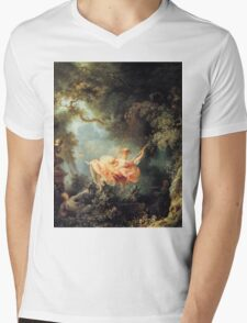 The Swing - Jean-Honoré Fragonard Mens V-Neck T-Shirt
