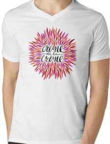 Crème de la Crème – Pink Palette Mens V-Neck T-Shirt