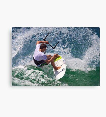 Kite Surfing at Merimbula Canvas Print