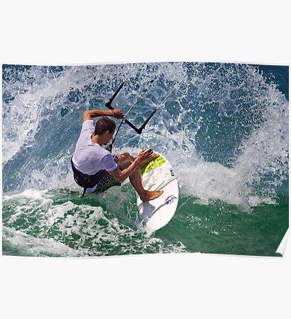 Kite Surfing at Merimbula Poster