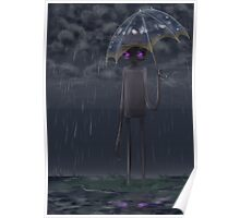 An Endermen Staying Dry Poster