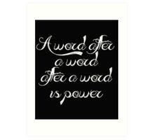 """Spelling"" - Margaret Atwood Art Print"