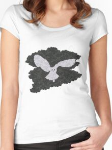 Owl in the night Women's Fitted Scoop T-Shirt
