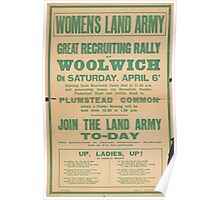 United States Department of Agriculture Poster 0177 Women's Land Army Join Recruiting Rally Woolwich Poster