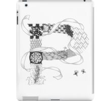 Zentangle®-Inspired Art - Tangled Alphabet - P iPad Case/Skin