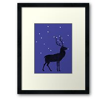 Stag grazing on the stars Framed Print