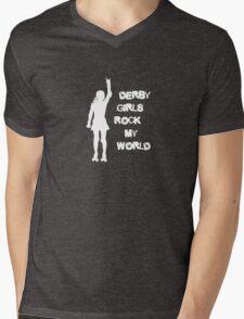 Derby Girls Rock My World Mens V-Neck T-Shirt